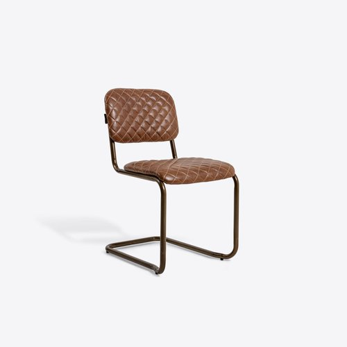 Avoca Brown Leather Dining Chair For, Brown Leather Dining Chair
