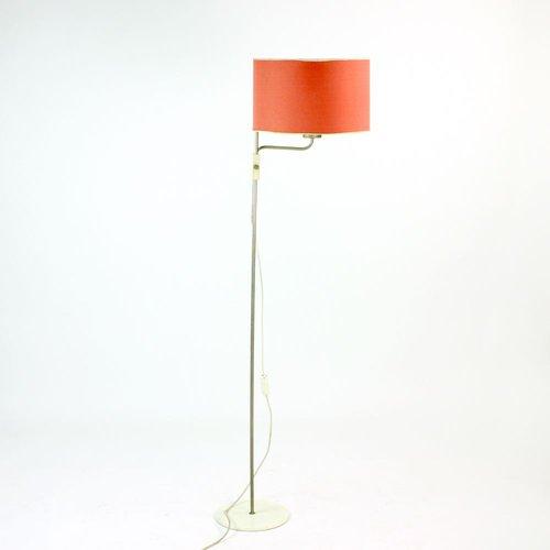 Tall Floor Lamp Czechoslovakia 1960s, Tall Red Lamp
