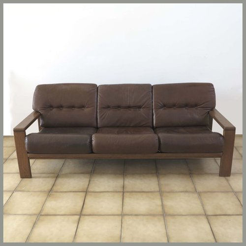 German Three Seater Leather Sofa