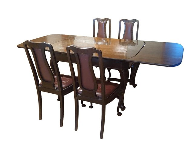 Antique Dining Room Table Chairs Set, Antique Dining Room Table