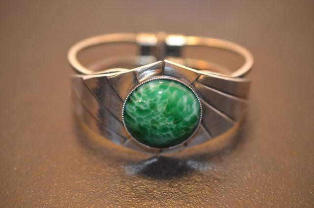 Unique Design Vintage\u00a0Gold Plated over Sterling Silver Bracelet