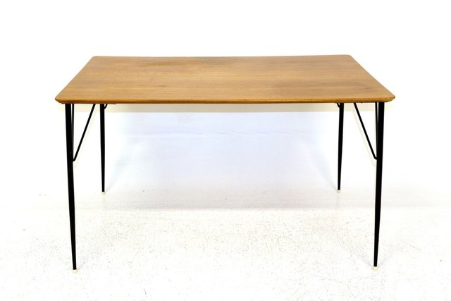 Swedish Teak Metal Dining Table 1960s For Sale At Pamono