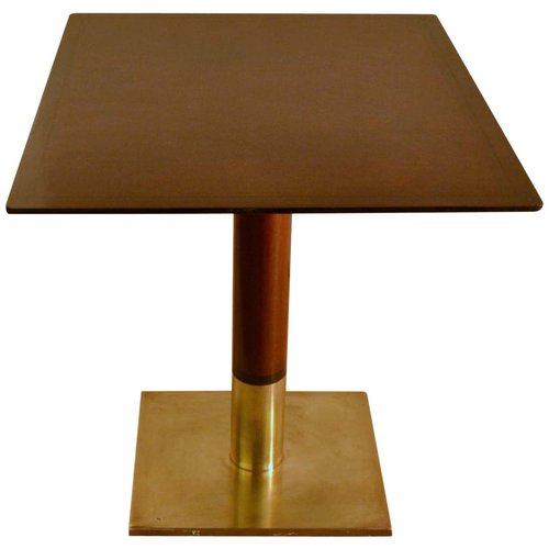 Square Dining Table On Centre Base And, Square Wood Table Lamp Base