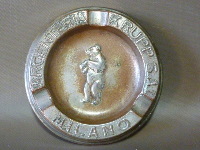 Steel vintage ashtrays Krupp brand