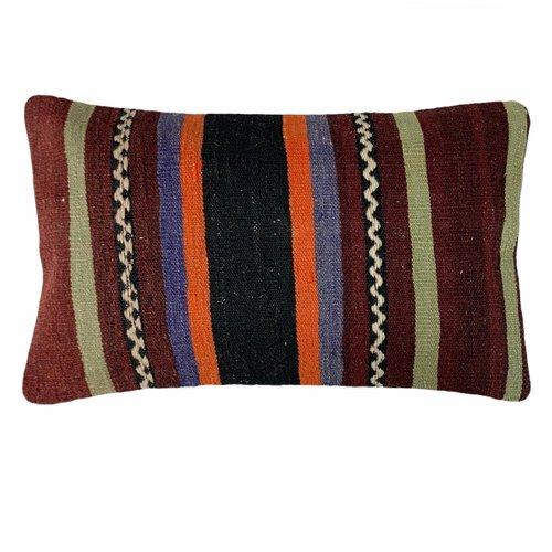 Vintage Turkish Anatolian Rectangular Handwoven  Wool carpet  Pillowcase  Pillowcover