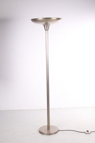Vintage Silver Gray Floor Lamp 1960s, Vintage Silver Floor Lamp