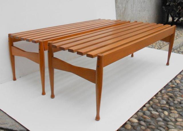 Panche in faggio di gio ponti per reguitti anni 39 50 set for Reguitti mobili da giardino