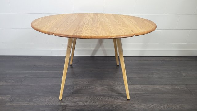 Round Drop Leaf Dining Table By Lucian, Modern Round Dining Table With Leaf