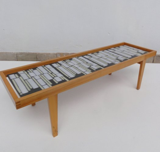 German Mid Century Ceramic Tile Coffee Table For Sale At