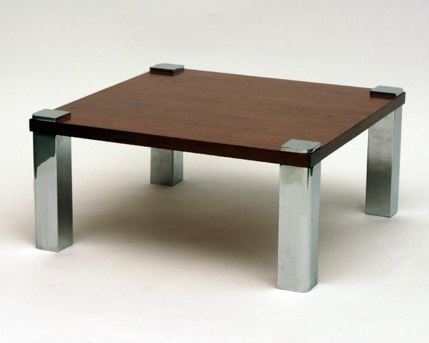 vintage holz chrom couchtisch 1970 bei pamono kaufen. Black Bedroom Furniture Sets. Home Design Ideas