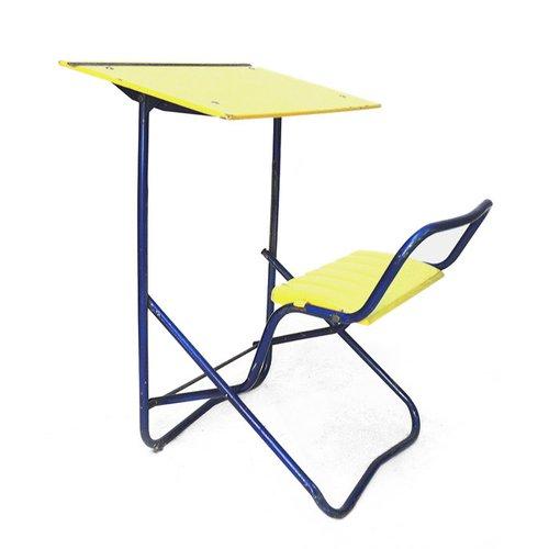 Schultisch mit stuhl  Französischer Vintage Schultisch & Stuhl, 1950er