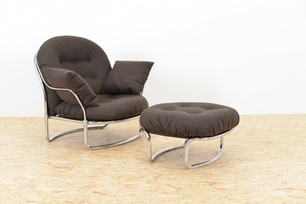 Lounge Chair And Ottoman Set By Carlo De Carli For Cinova