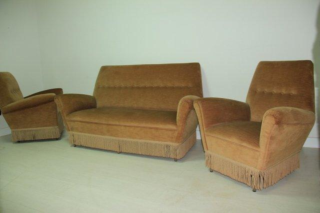 sofa und sessel 1950 3er set bei pamono kaufen. Black Bedroom Furniture Sets. Home Design Ideas