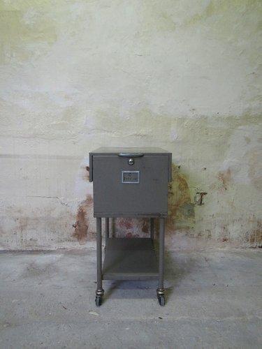 industrieller aktenschrank aus metall von foliomobile bei pamono kaufen. Black Bedroom Furniture Sets. Home Design Ideas