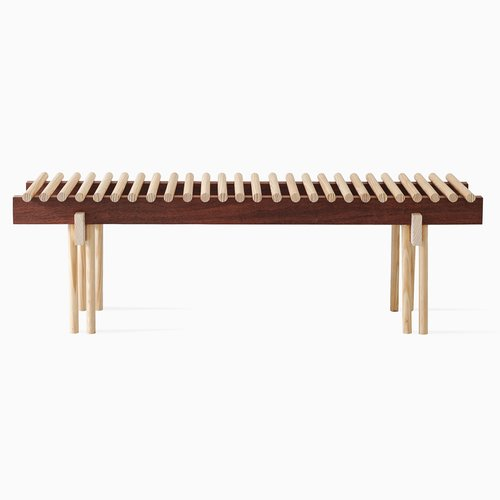 heights bench in ash walnut by alban le henry bei pamono kaufen. Black Bedroom Furniture Sets. Home Design Ideas