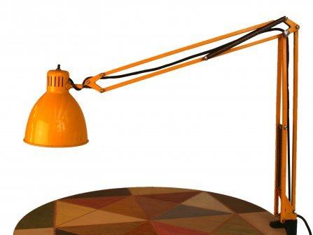 Lampe de bureau jaune de metalarte 1950s en vente sur pamono