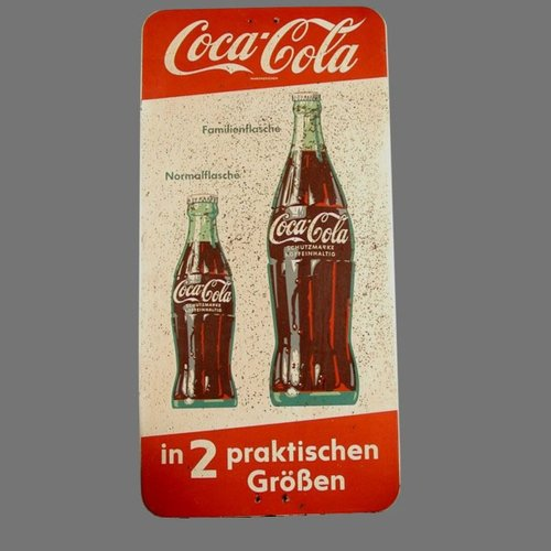 Vintage Coca Cola Advertising Sign 1950s For Sale At Pamono