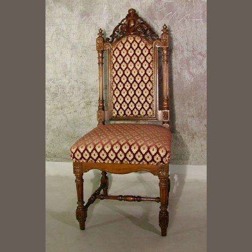 chaise d 39 appoint antique en bois sculpt en vente sur pamono. Black Bedroom Furniture Sets. Home Design Ideas
