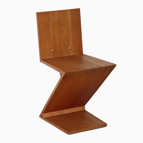Sedia Zig Zag di Gerrit Rietveld in vendita su Pamono