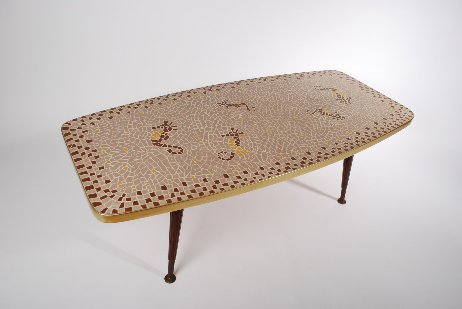 Vintage Seahorse Mosaic Coffee Table S For Sale At Pamono - Seahorse coffee table