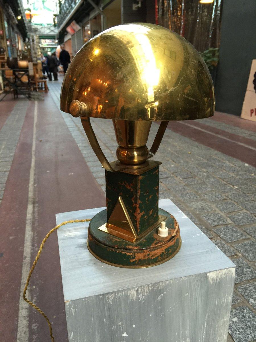 Vintage Messing Tischlampe von Paul Dupré Lafon für Hermès