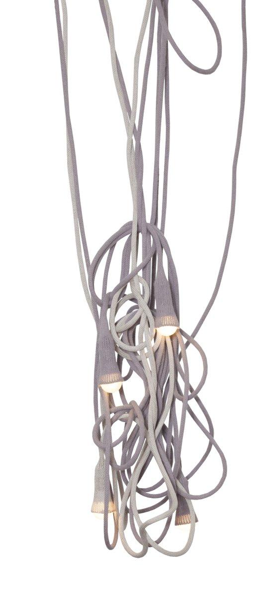 matte lampe aus beiger gestrickter wolle von llot llov bei pamono kaufen. Black Bedroom Furniture Sets. Home Design Ideas