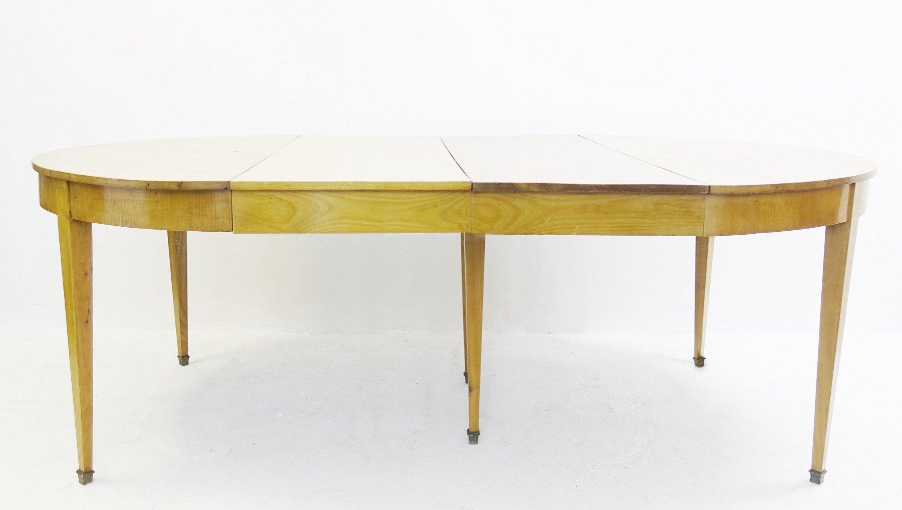 Tavolo Da Pranzo Rotondo Vintage Allungabile In Legno Di Ciliegio Anni 70 In Vendita Su Pamono