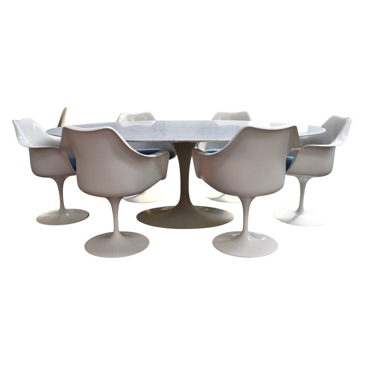 MidCentury Marble Dining Set By Eero Saarinen For Knoll For Sale At - Mid century marble dining table