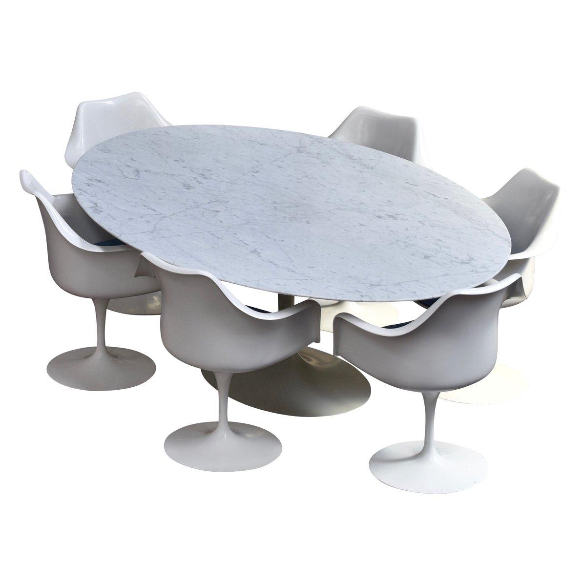Mid-Century Marmor Essgruppe von Eero Saarinen für Knoll
