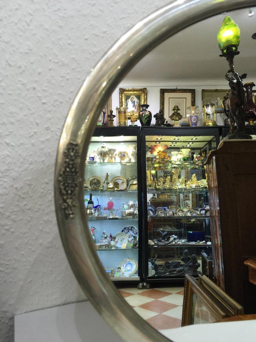 art deco spiegel mit silberrahmen bei pamono kaufen. Black Bedroom Furniture Sets. Home Design Ideas