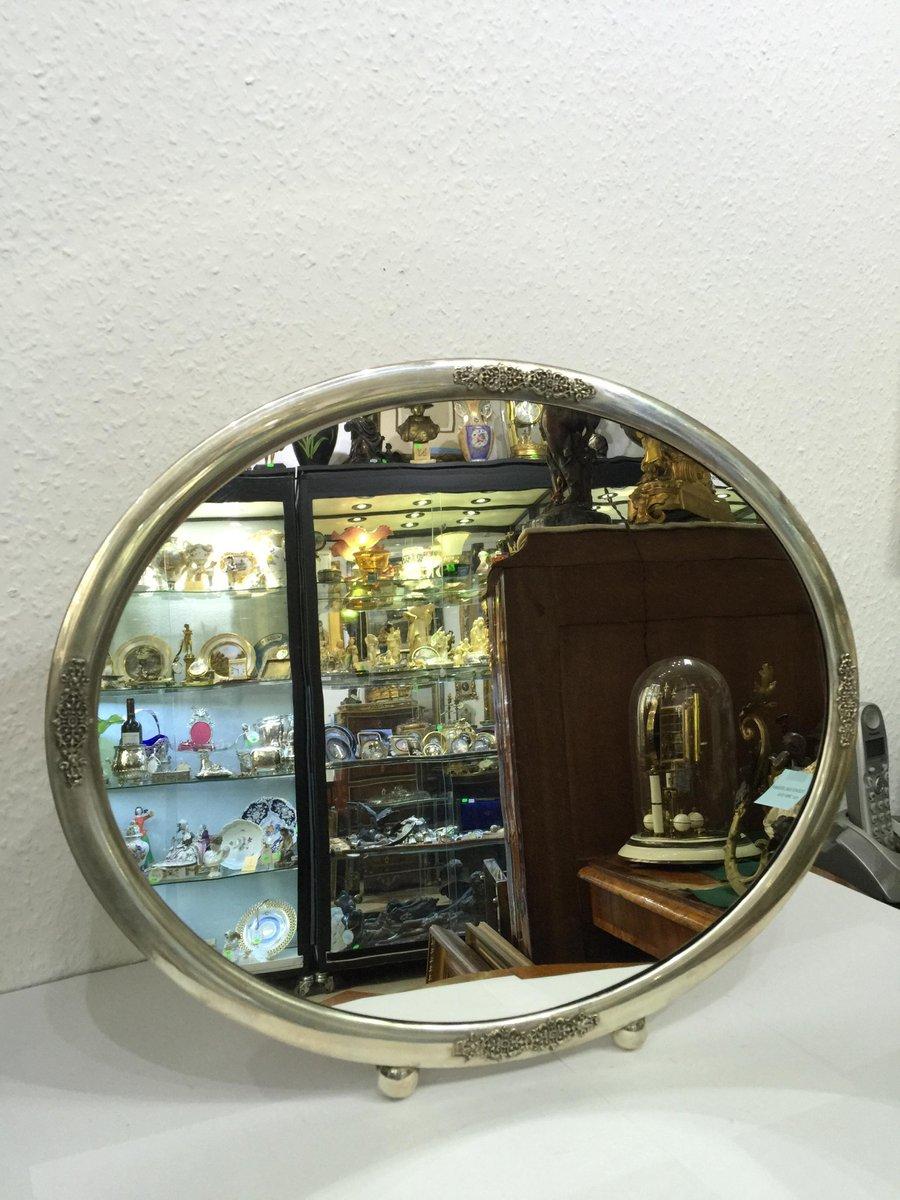 Art deco spiegel mit silberrahmen bei pamono kaufen - Spiegel silberrahmen ...