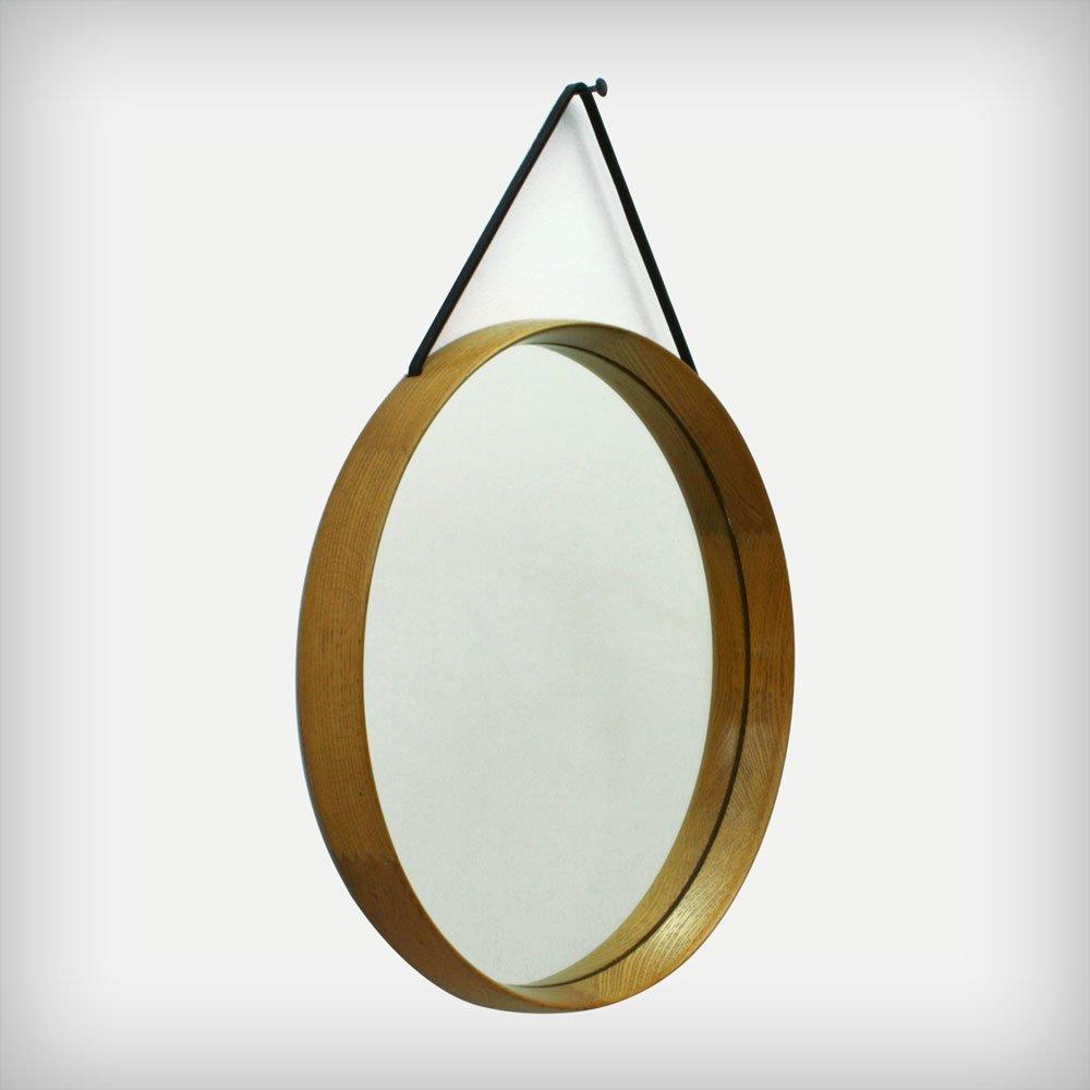 schwedischer spiegel mit eichenholzrahmen von uno und On spiegel mit eichenholzrahmen