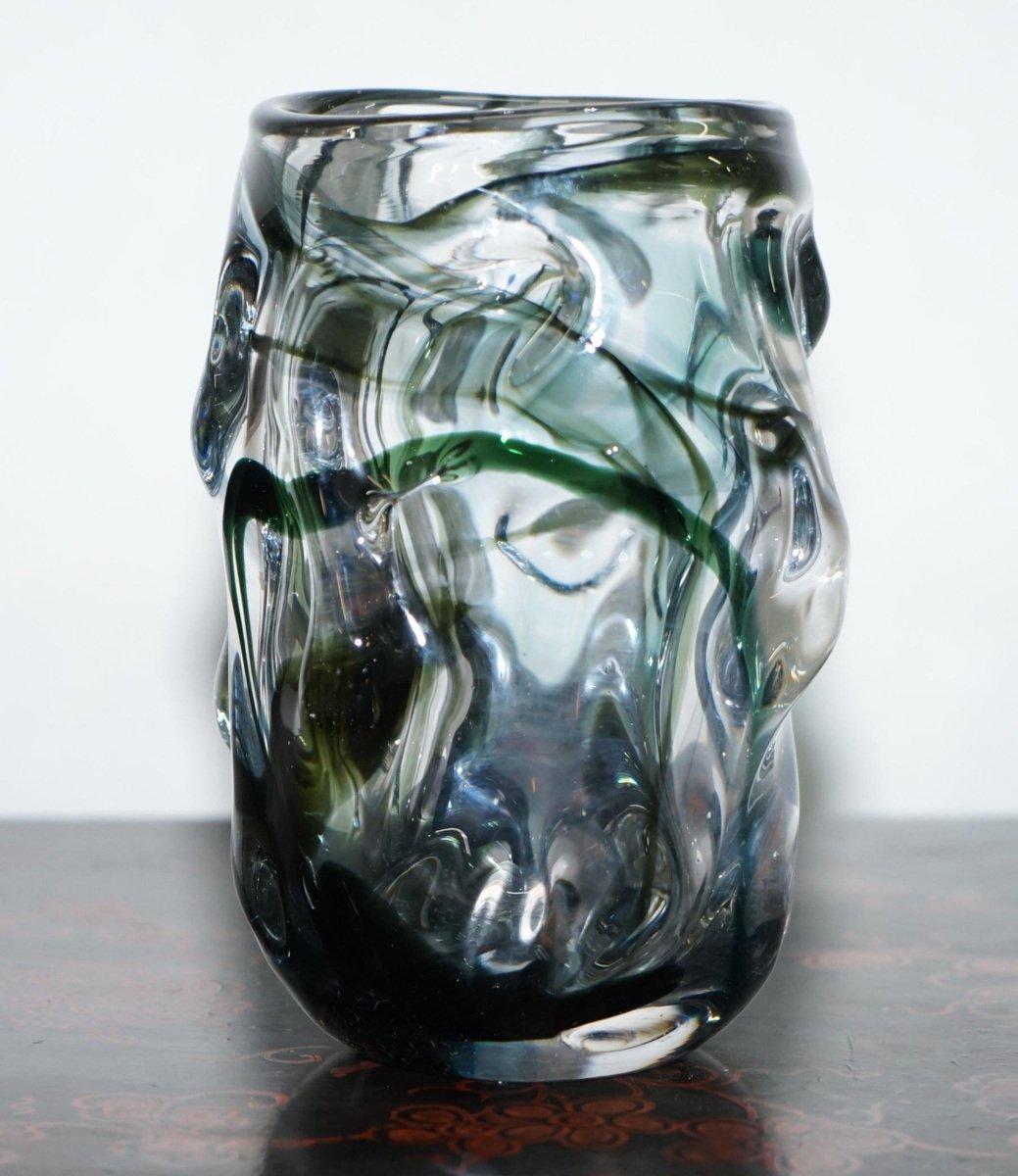 Jarrón de cristal de Murano en venta en Pamono