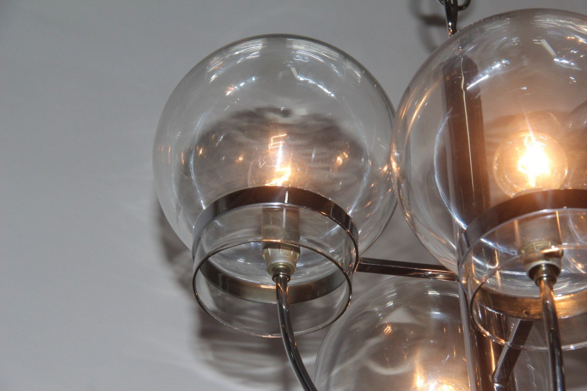 lustre globes en verre italie 1970s en vente sur pamono. Black Bedroom Furniture Sets. Home Design Ideas