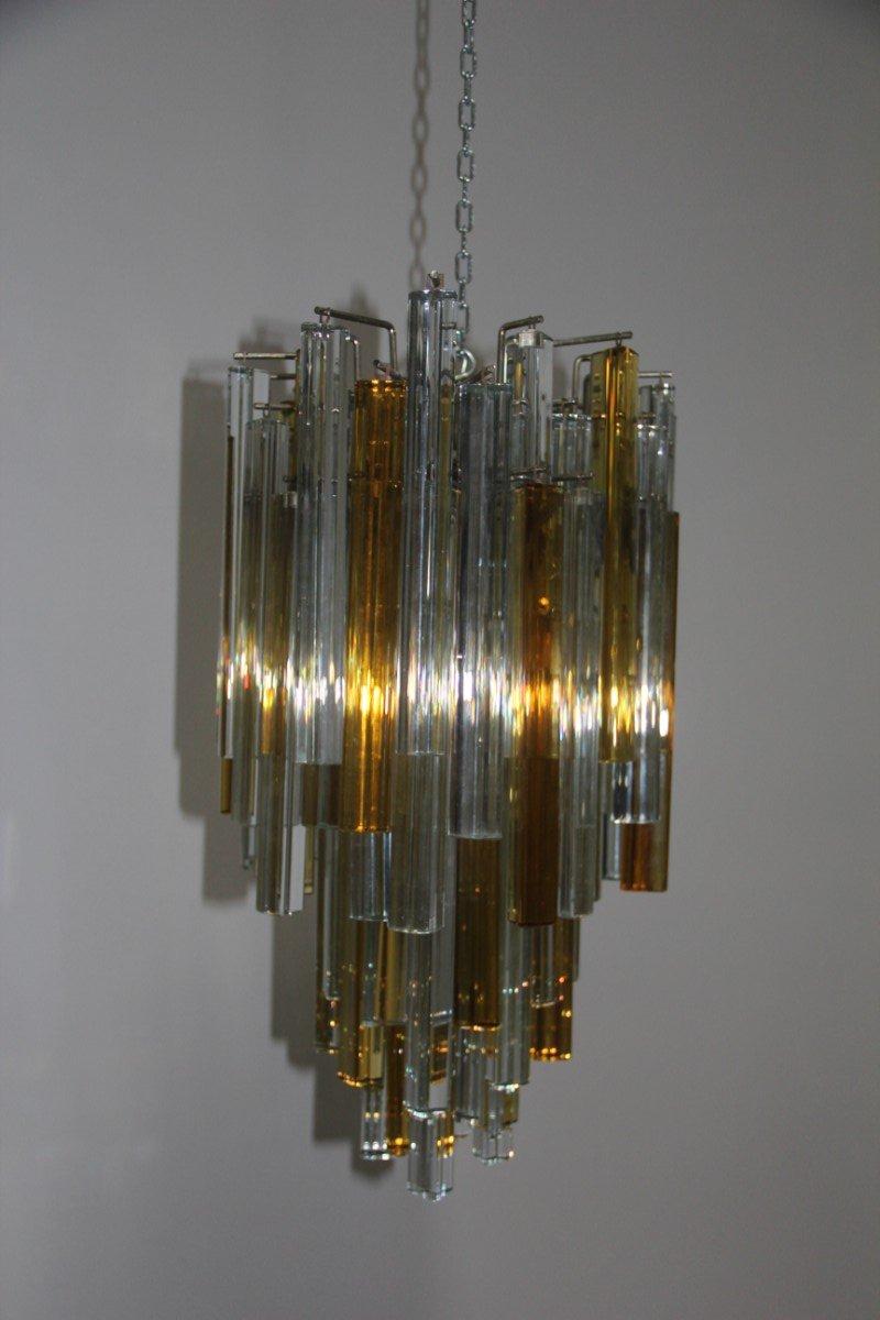 lustre triedi en verre de venini 1960s en vente sur pamono. Black Bedroom Furniture Sets. Home Design Ideas