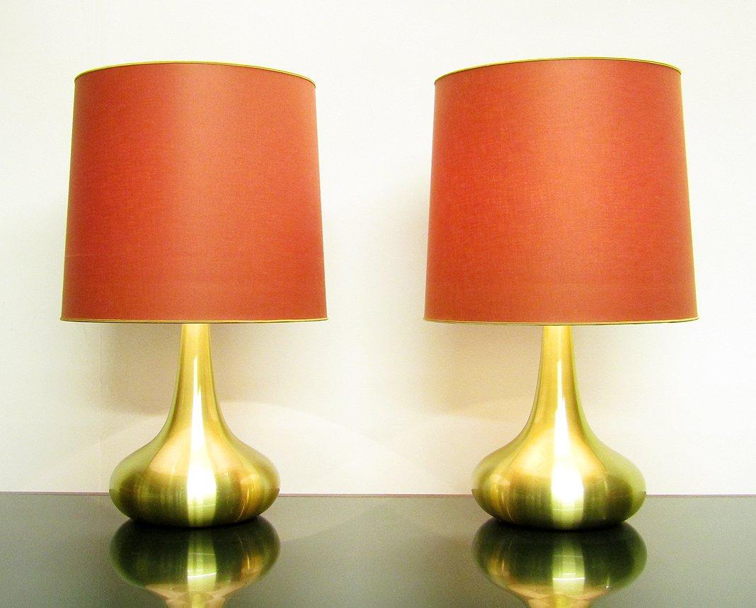 Große Orient Tischlampen von Jo Hammerborg für Fog & Morup, 2er Set