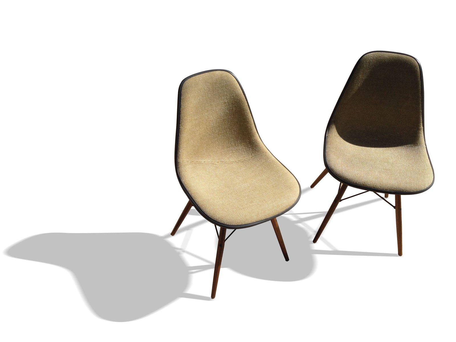 graue dsw st hle von charles und ray eames f r herman miller 2er set bei pamono kaufen. Black Bedroom Furniture Sets. Home Design Ideas
