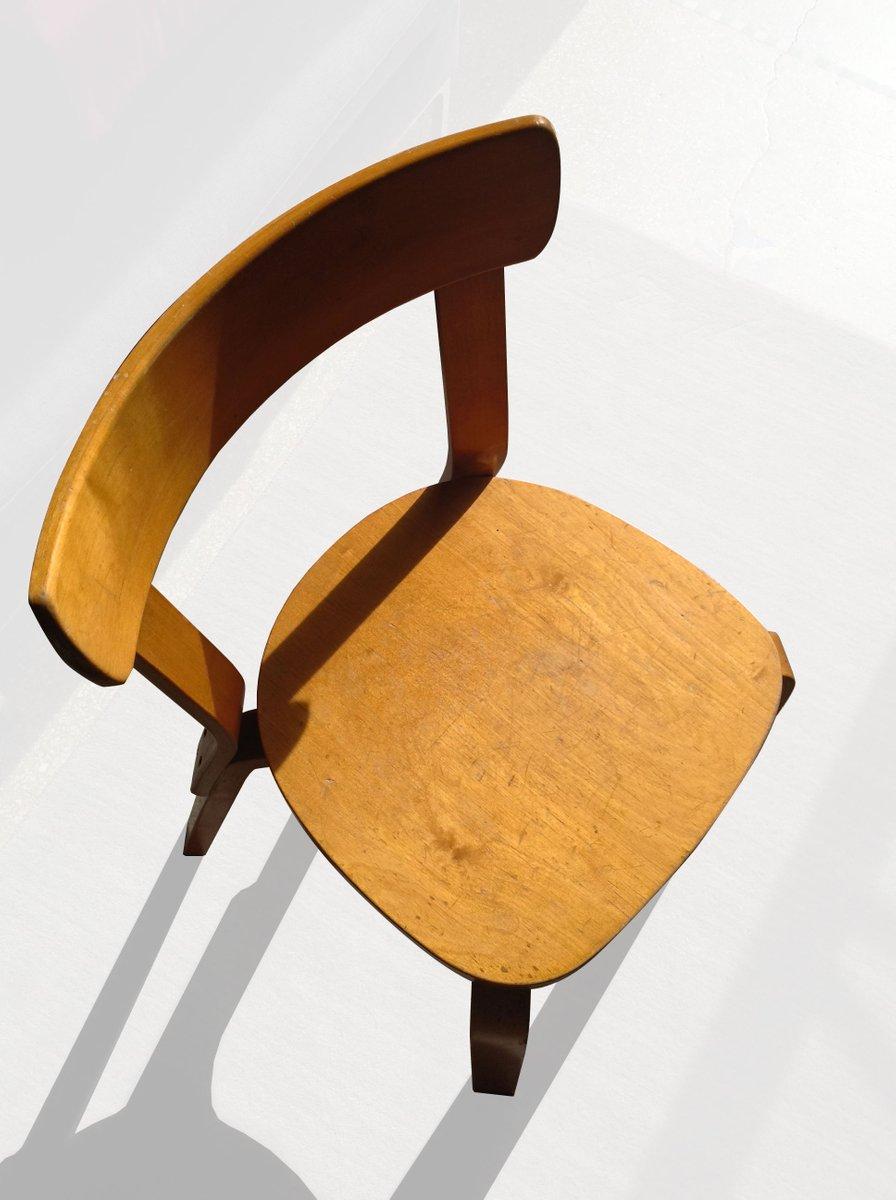 chaise d 39 appoint en bouleau par alvar aalto pour artek. Black Bedroom Furniture Sets. Home Design Ideas