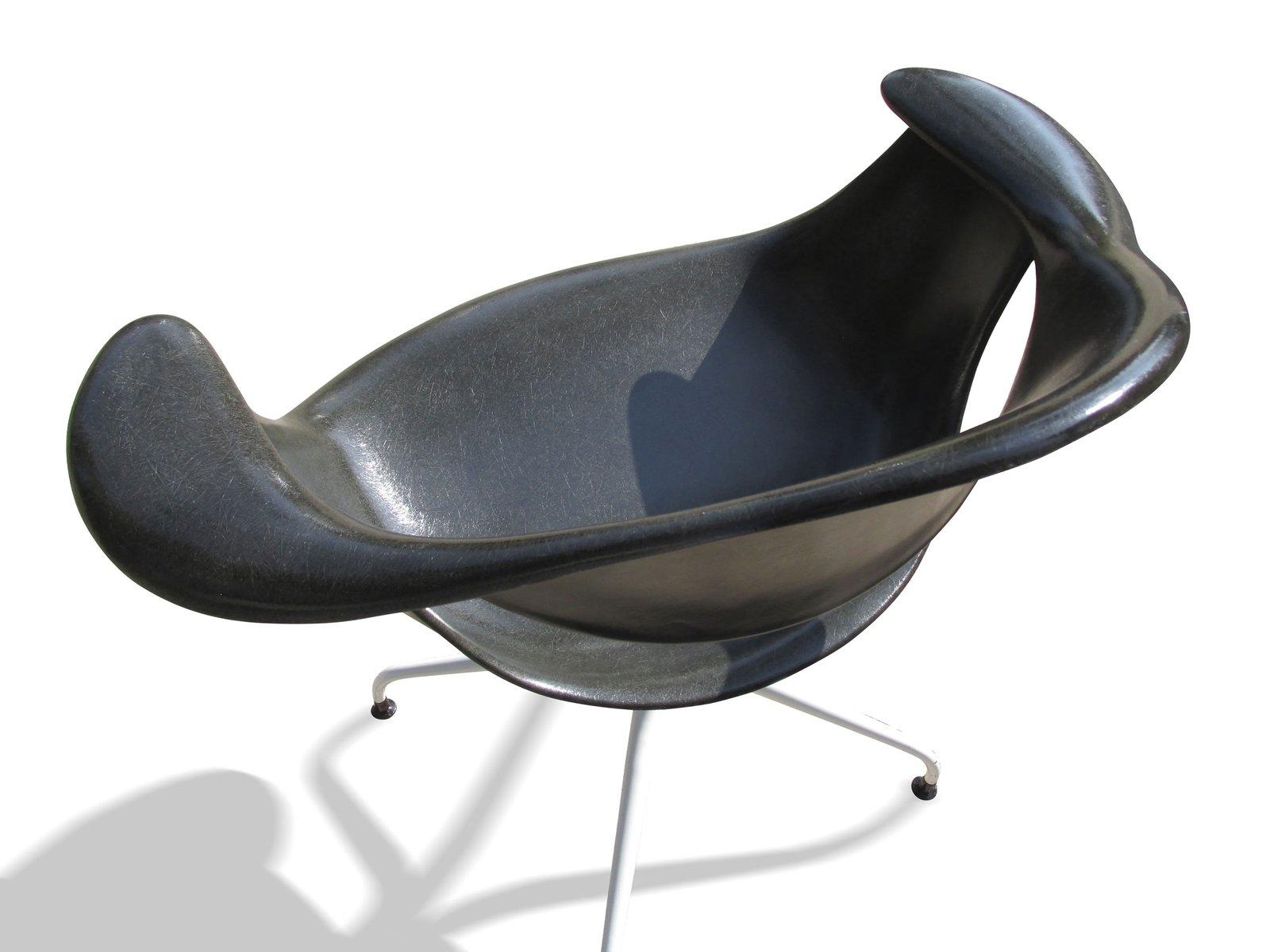 schwarzer daf stuhl von charles pollock f r herman miller bei pamono kaufen. Black Bedroom Furniture Sets. Home Design Ideas