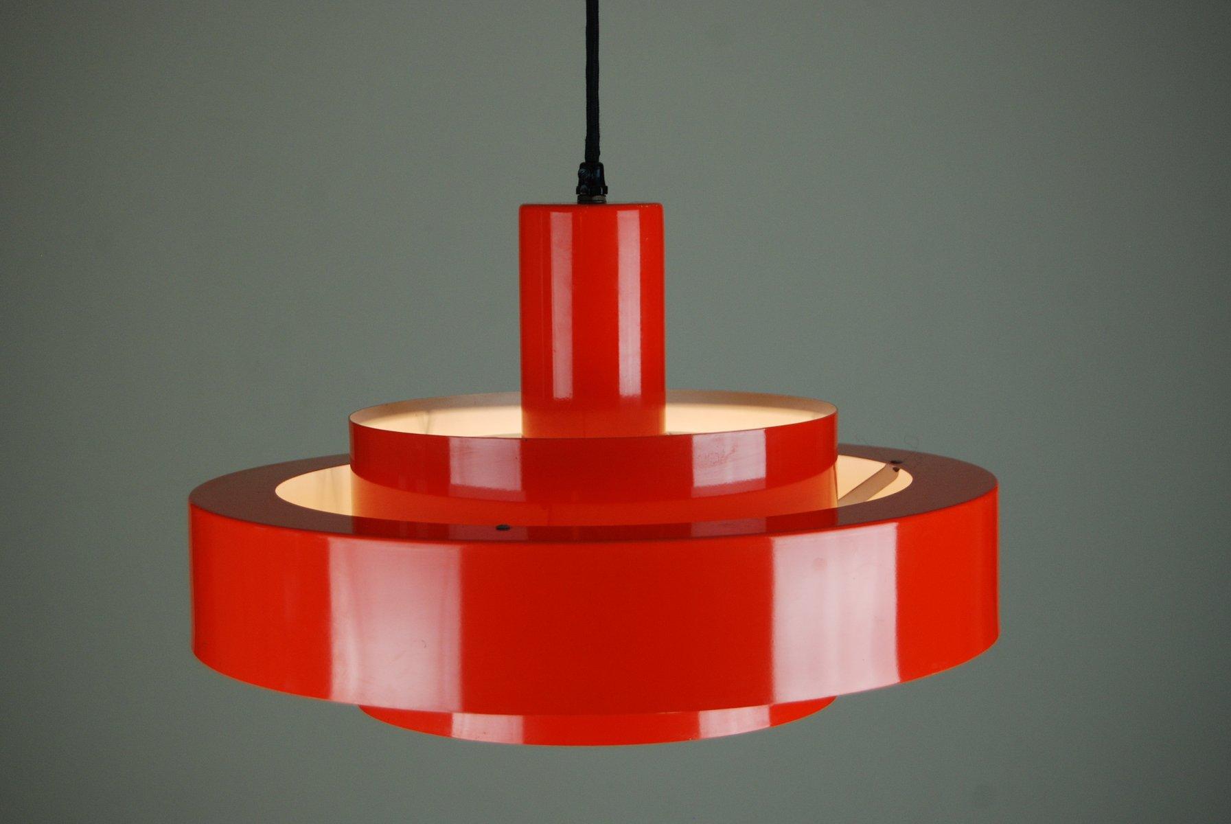 Rote Equator Hängelampe von Jo Hammerborg für Fog & Mørup