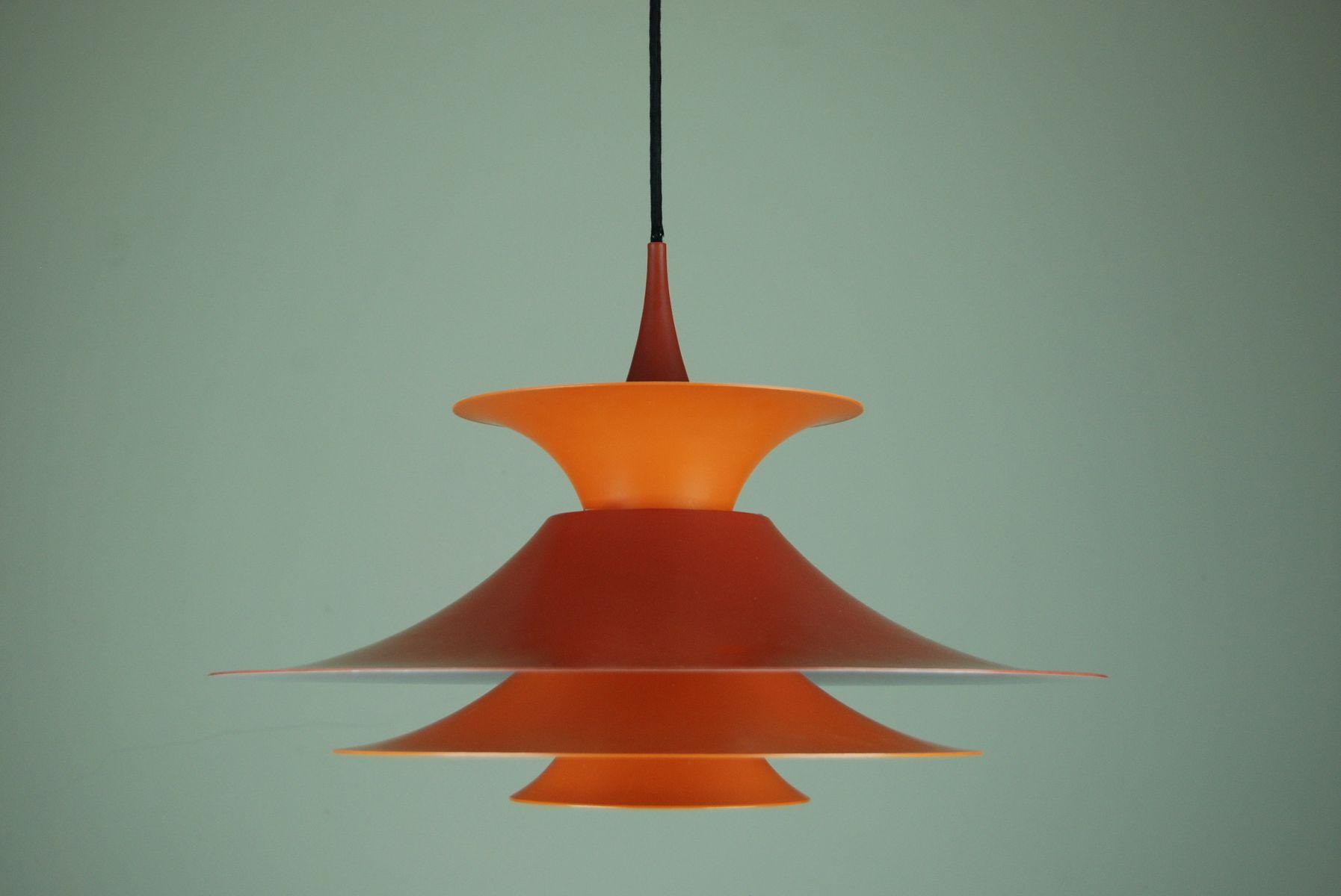Orange Radius Hängelampe von Eric Baslev für Fog and Mørup