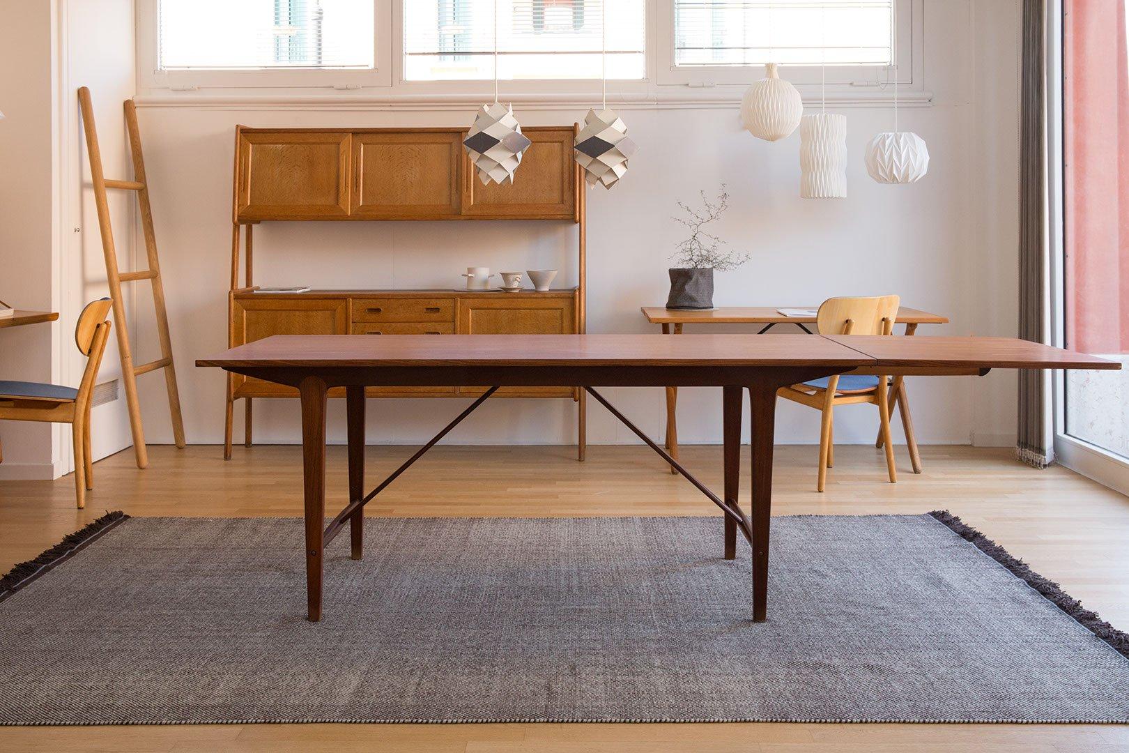 Dänischer Ausziehbarer Vintage Esstisch