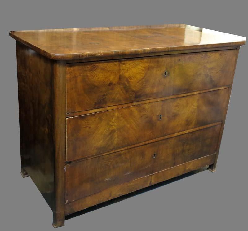 antike kommode aus wurzelholz mit drei schubladen bei pamono kaufen. Black Bedroom Furniture Sets. Home Design Ideas