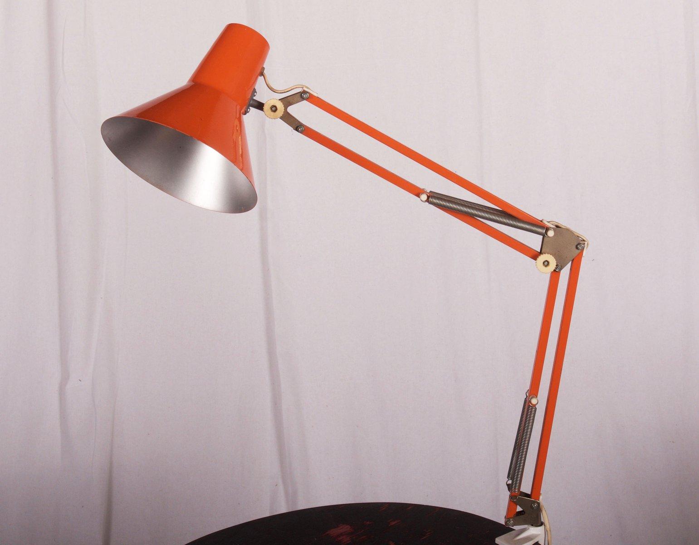 Lampe de bureau orange de luxo s en vente sur pamono