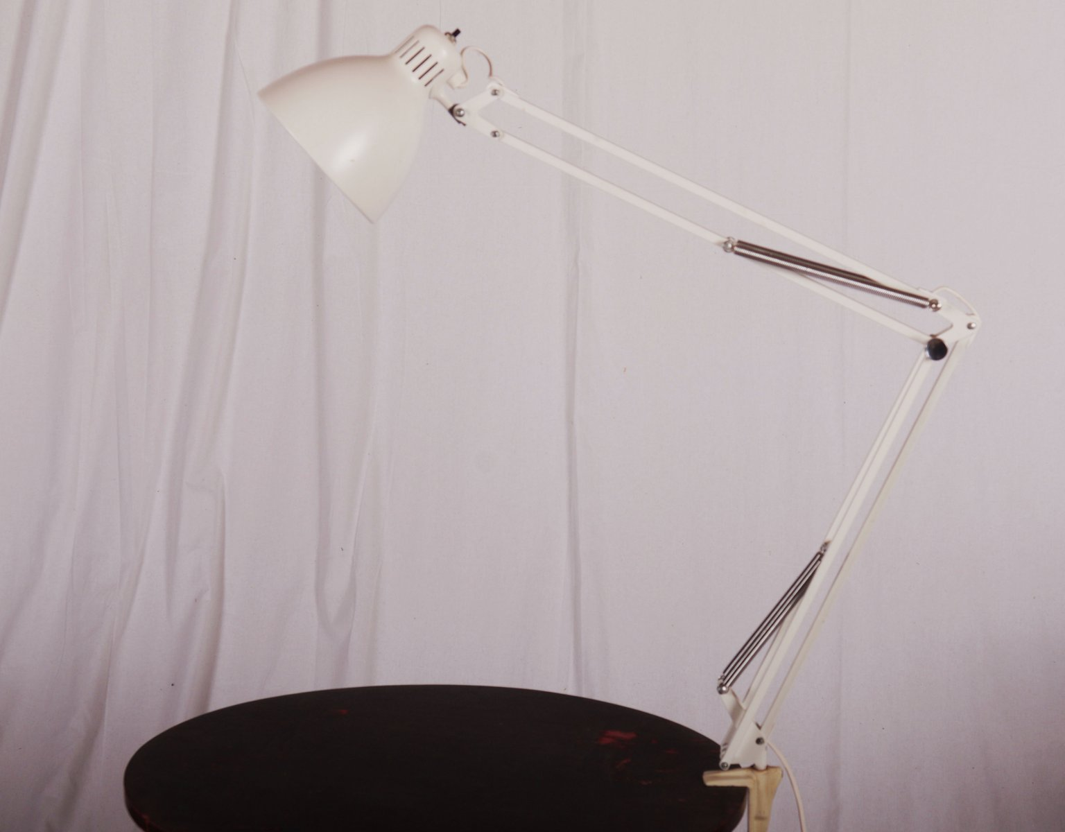 White Desk Lamp From Luxo 1980s