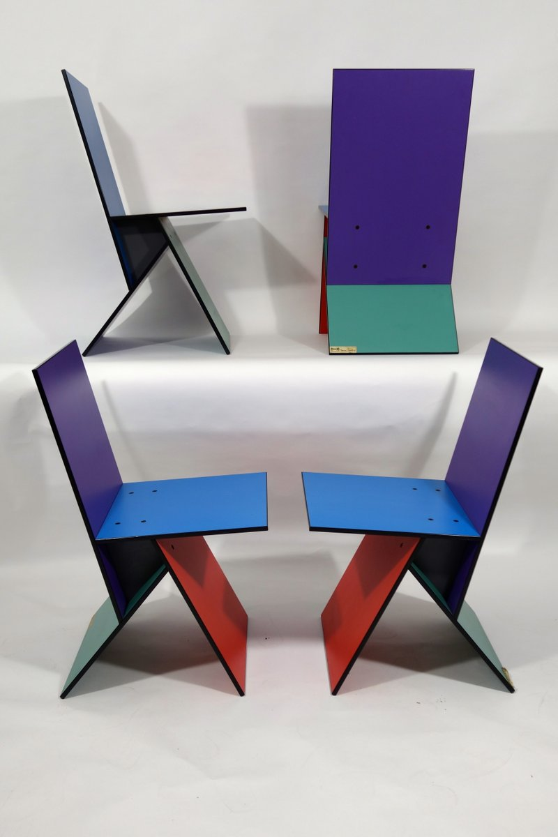 vintage vilbert st hle von verner panton f r ikea 1993 4er set bei pamono kaufen. Black Bedroom Furniture Sets. Home Design Ideas