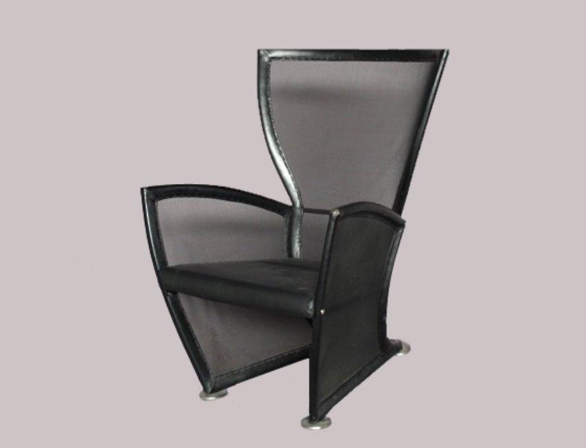 Italienischer vintage leder lounge stuhl 1970er bei pamono kaufen - Vintage stuhl leder ...