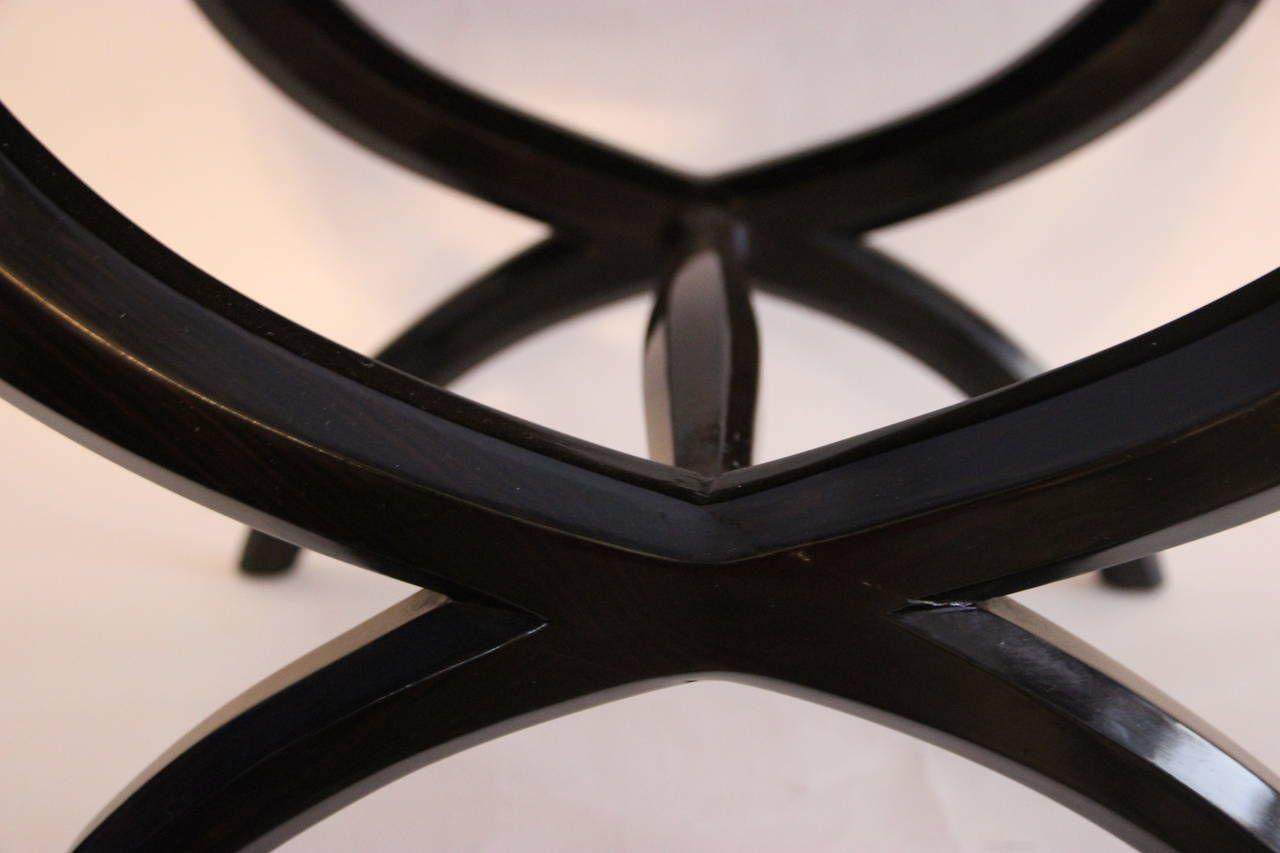 Sgabelli in legno macassar di süe mare pair francia set di