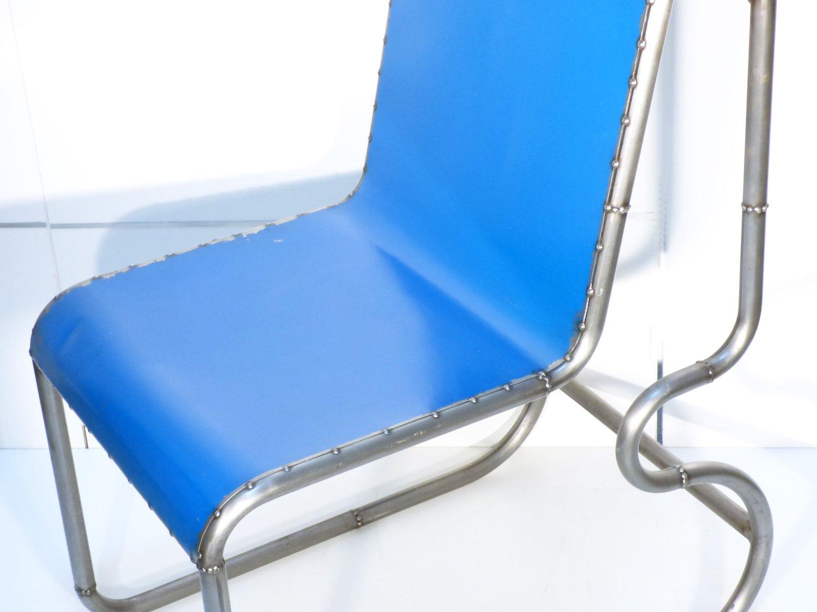 chaise vintage industrielle en acier en vente sur pamono. Black Bedroom Furniture Sets. Home Design Ideas