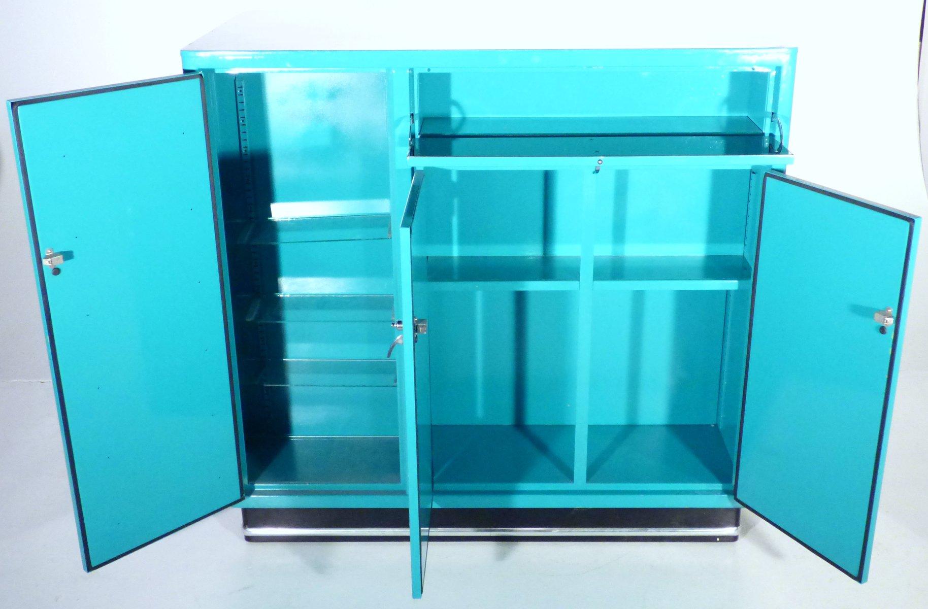armoire pharmacie vintage turquoise par karl baisch en vente sur pamono. Black Bedroom Furniture Sets. Home Design Ideas